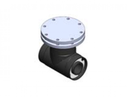 """Chem Prolok 1""""X 3"""" Access Tee with PP Blind and PTFE AV"""