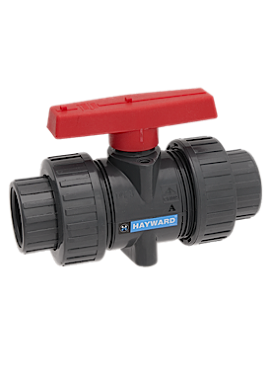 1/2 PVC TRUE UNION BALL VALVE    HAYWARD * QTA * S/T EPDM