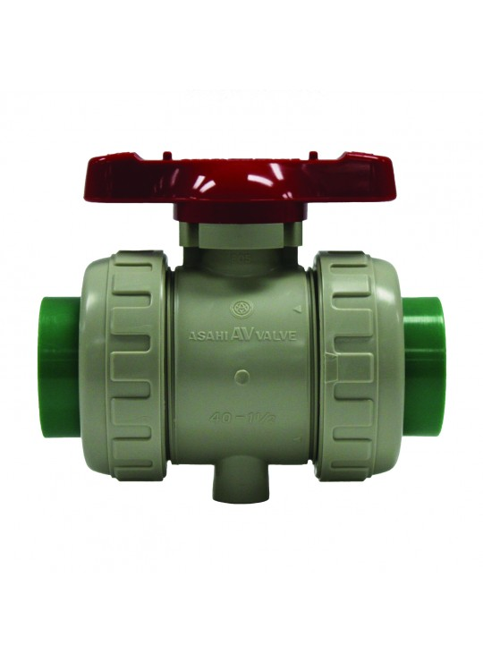Asahitec PP-RCT 40mm TYPE-21 TRUE UNION DIAPHRAGM VALVE - SOCKET