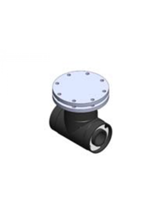 """Chem Prolok 2""""X 4"""" Access Tee with PP Blind and PTFE AV"""