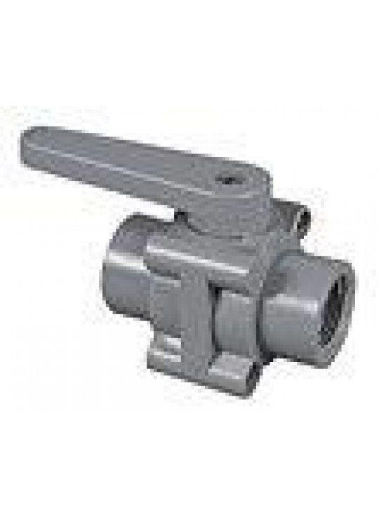"3/4"" FT X FT SPECIALTY POLYPRO BALL VALVE W/BUNA 125PSI"