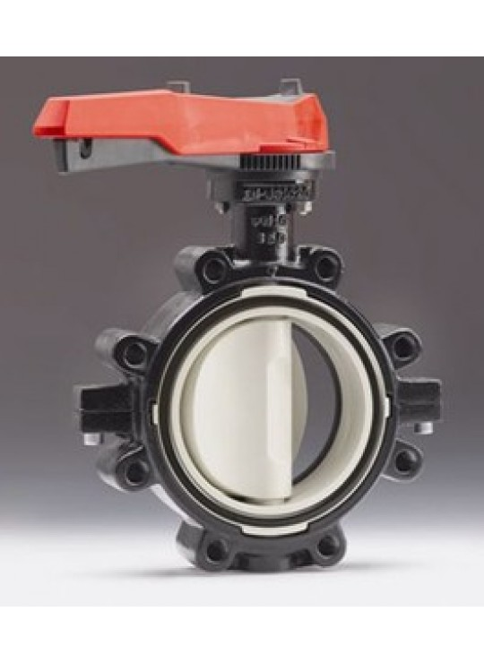 6 PVC BUTTERFLY VALVE EPDM       +GF+ TYPE 567  LEVER