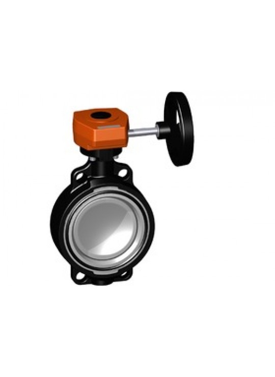 4 GF 568 LUG BUTTERFLY VALVE     CPVC DISC GEAR OPERATED EPDM