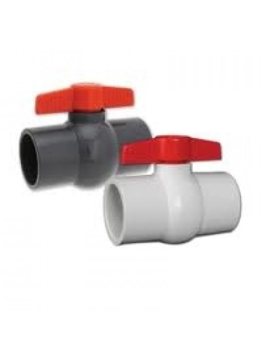 1-1/2 PVC BALL VALVE THRD EPDM   HAYWARD * QVC *  WHITE 5/bag