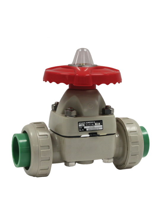 Asahitec PP-RCT 20mm TYPE-14 TRUE UNION DIAPHRAGM VALVE - SOCKET