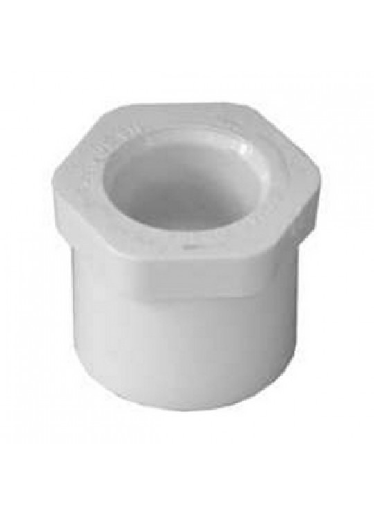 3 X 2 SYSTEM 636 RED BUSHING     SPxSOC WHITE PVC FLUSH